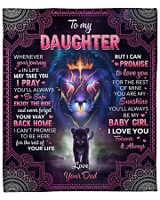 """Whenever Your Journey In Life Lion Dad To Daughter Fleece Blanket - 50"""" x 60"""" front"""