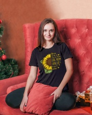 Born To Be A Stay At Home Dog Mom Ladies T-Shirt lifestyle-holiday-womenscrewneck-front-2