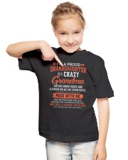 I'm A Proud Granddaughter Of A Crazy Grandma Youth T-Shirt lifestyle-youth-tshirt-front-2