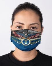 To Dad Eagle USAF Veteran  Cloth face mask aos-face-mask-lifestyle-01