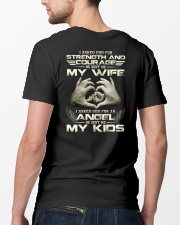 God Sent Me My Wife And My Kids Classic T-Shirt lifestyle-mens-crewneck-back-5