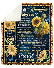 Never Forget That I Love You Mom To Daughter Sherpa Fleece Blanket tile