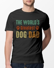 The World's Greatest Dog Dad Classic T-Shirt lifestyle-mens-crewneck-front-13