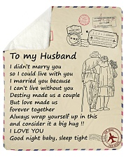 "Husband Love Made Us Forever Together I Love You Sherpa Fleece Blanket - 50"" x 60"" thumbnail"