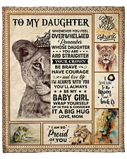 "Lion-Im So Proud Of You - Mom-To-Daughter Fleece Blanket - 50"" x 60"" front"