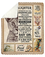 "Lion-Im So Proud Of You - Mom-To-Daughter Sherpa Fleece Blanket - 50"" x 60"" thumbnail"
