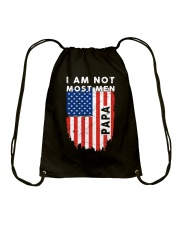 I Am Not Most Men Papa Drawstring Bag thumbnail