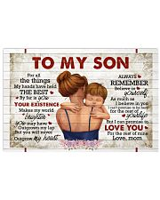 For All The Things My Hands Have Held -Mom To Son Horizontal Poster tile