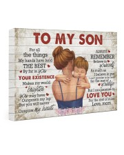 For All The Things My Hands Have Held -Mom To Son 24x16 Gallery Wrapped Canvas Prints front