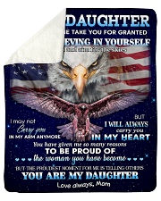 """Don't Let Anyone Take U For Granted To Daughter Sherpa Fleece Blanket - 50"""" x 60"""" thumbnail"""
