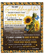 """Never Forget That I Love U Sunflower GM To GD Fleece Blanket - 50"""" x 60"""" front"""