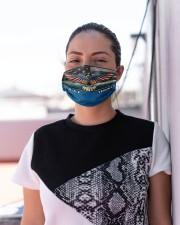 To Dad Eagle USAF Veteran  Cloth face mask aos-face-mask-lifestyle-04