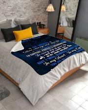 "To My Bonus Son Sherpa Fleece Blanket - 50"" x 60"" aos-sherpa-fleece-blanket-lifestyle-front-02"