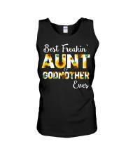 Best Freakin Aunt And Godmother Ever Sunflower Unisex Tank thumbnail