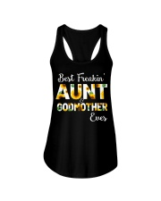 Best Freakin Aunt And Godmother Ever Sunflower Ladies Flowy Tank thumbnail