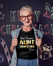 Best Freakin Aunt And Godmother Ever Sunflower Ladies T-Shirt lifestyle-holiday-crewneck-front-3
