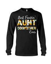 Best Freakin Aunt And Godmother Ever Sunflower Long Sleeve Tee thumbnail