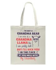 I Am More Of A Grandma Llama Like Tote Bag thumbnail
