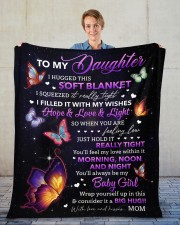 """I Hugged This Soft Blanket Mom To Daughter Fleece Blanket - 50"""" x 60"""" aos-coral-fleece-blanket-50x60-lifestyle-front-01"""