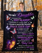 """I Hugged This Soft Blanket Mom To Daughter Fleece Blanket - 50"""" x 60"""" aos-coral-fleece-blanket-50x60-lifestyle-front-01b"""