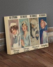 Be Strong Be Brave Be Humble Be Badass Nurse 14x11 Gallery Wrapped Canvas Prints aos-canvas-pgw-14x11-lifestyle-front-10