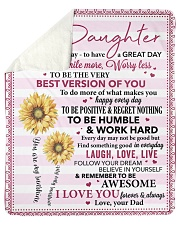 Today Is A Good Day Dad To Daughter Sherpa Fleece Blanket tile
