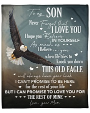 """Never Forget I Love You Eagle Mom To Son Fleece Blanket - 50"""" x 60"""" front"""