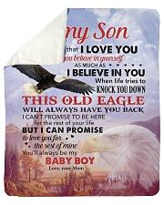 Never Forget That I Love U Mom To Son Sherpa Fleece Blanket tile