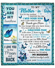 """You Are The Mother I Received To Mother-In-Law Fleece Blanket - 50"""" x 60"""" front"""