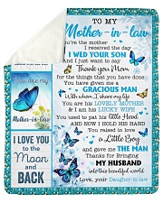 You Are The Mother I Received To Mother-In-Law Sherpa Fleece Blanket tile