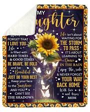 "Never Forget I Love U Sunflower Mom To Daughter Sherpa Fleece Blanket - 50"" x 60"" thumbnail"