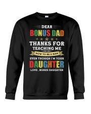 Bonus Dad Thanks for teaching me how to be a man Crewneck Sweatshirt thumbnail