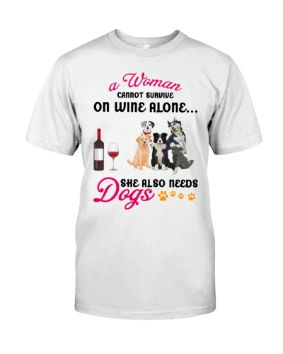 A Women needs wine and Dogs