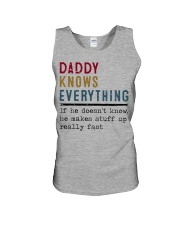 Daddy knows everything Unisex Tank thumbnail