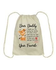 Thank you for being my daddy - dogs lover Drawstring Bag thumbnail
