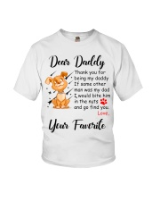 Thank you for being my daddy - dogs lover Youth T-Shirt thumbnail