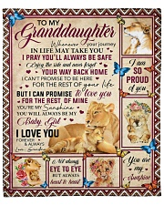 """Whenever Your Journey In Life To Granddaughter Fleece Blanket - 50"""" x 60"""" front"""