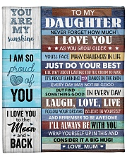 """Never Forget How Much I Love U Mom To Daughter Fleece Blanket - 50"""" x 60"""" front"""