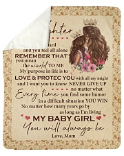 "My Baby Girl U Will Always Be-Mom-To-Daughter Sherpa Fleece Blanket - 50"" x 60"" thumbnail"