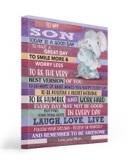 Today Is A Good Day - Elephant Mom To Son 16x20 Gallery Wrapped Canvas Prints front