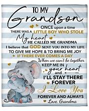 "Once Upon A Time Elephants Grandma To Grandson Fleece Blanket - 50"" x 60"" front"