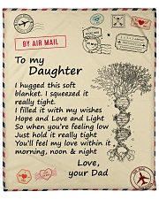 """I hugged this soft blanket - Dad to Daughter Fleece Blanket - 50"""" x 60"""" front"""