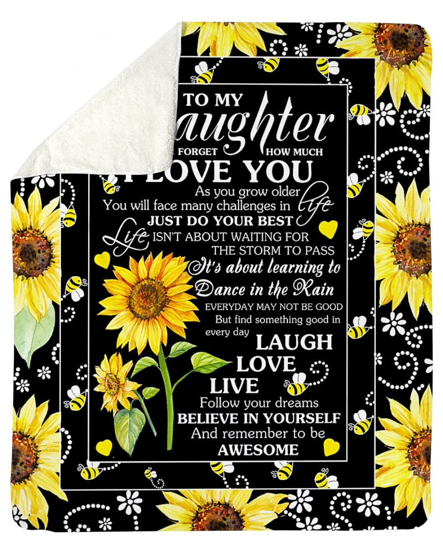 "To My Daughter Sherpa Fleece Blanket - 50"" x 60"""
