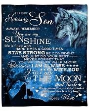 """Always Remember U Are My Sunshine Mom To Son Fleece Blanket - 50"""" x 60"""" front"""