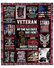 "I Am A US Veteran Fleece Blanket - 50"" x 60"" front"