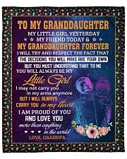 """My Little Girl Yesterday-Grandpa To Granddaughter Fleece Blanket - 50"""" x 60"""" front"""
