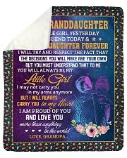 My Little Girl Yesterday-Grandpa To Granddaughter Sherpa Fleece Blanket tile