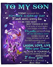 """Today Is A Good Day Dad To Son Fleece Blanket - 50"""" x 60"""" front"""