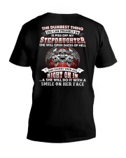 Piss Off My Stepdaughter V-Neck T-Shirt tile