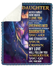 """Never Forget How Much I LoveU Lion Mom To Daughter Sherpa Fleece Blanket - 50"""" x 60"""" thumbnail"""